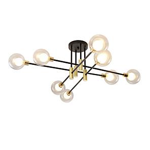 cheap Makeup Brush Sets-EMPEROR LANG 8-Light 82 cm New Design Flush Mount Lights Metal Glass Sputnik Electroplated / Painted Finishes Modern / Nordic Style 110-120V / 220-240V / G9