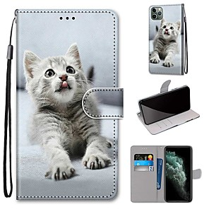 cheap iPhone Cases-Case For Apple iPhone 11 / iPhone 11 Pro / iPhone 11 Pro Max Wallet / Card Holder / with Stand Full Body Cases PU Leather / TPU