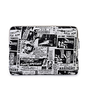 cheap Sleeves,Cases & Covers-11.6 Inch Laptop / 13.3 Inch Laptop / 14 Inch Laptop Sleeve Polyester / Canvas Word / Phrase / Printing for Business Office for Colleages & Schools for Travel Water Proof Shock Proof