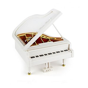 cheap Music Boxes-Little Piano ABS White Music Toy For Kids