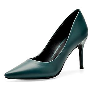 cheap Women's Heels-Women's Heels Stiletto Heel Pointed Toe Faux Leather Business / Minimalism Spring &  Fall Orange / Blue / Party & Evening