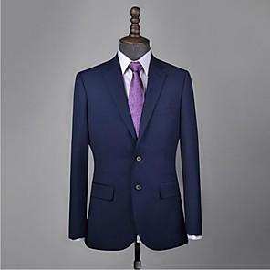 cheap Custom Suits-Marine blue wool custom suit