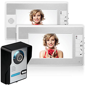 cheap Micro Cameras-MOUNTAINONE SY812FA12 Wired Built in out Speaker 7 inch Hands-free One to Two video doorphone