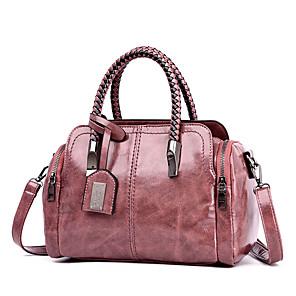 cheap Handbag & Totes-Women's Bags PU Leather Top Handle Bag Rivet / Glitter for Daily / Date Black / Blushing Pink / Green / Fall & Winter
