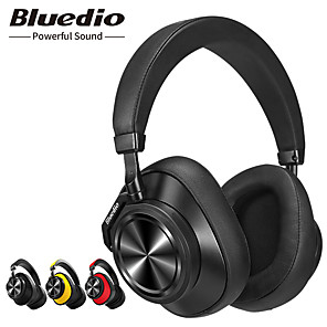 cheap On-ear & Over-ear Headphones-Bluedio T6 Active Noise Cancelling Headphones Wireless HIFI Bluetooth Headset with Microphone for Phones and Music