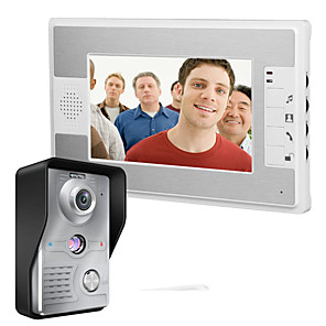 cheap Video Door Phone Systems-MOUNTAINONE SY812MKW11 Wired Built in out Speaker 7 inch Hands-free One to One video doorphone