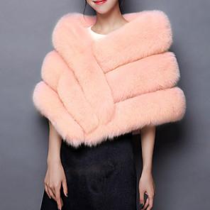 cheap Wedding Wraps-Sleeveless Basic / Capes Fox Fur Wedding / Party / Evening Women's Wrap / Women's Scarves With Fur