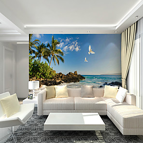cheap Wall Stickers-Wallpaper / Mural / Wall Cloth Canvas Wall Covering - Adhesive required Art Deco / 3D / Landscape