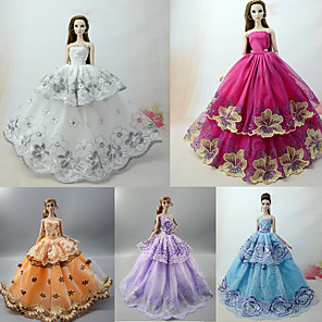 cheap Dolls Accessories-Doll accessories Doll Clothes Doll Dress Wedding Dress Party / Evening Princess Lolita Ball Gown Lace Tulle Lace Cotton Blend Silk / Cotton Blend For 11.5 Inch Doll Handmade Toy for Girl's Birthday