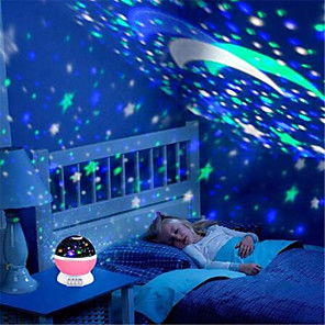 cheap Construction & Decoration-Star projector moon Lamp starry Night Light LED star light lampara luna USB Bedroom Party rechargeable night light for child