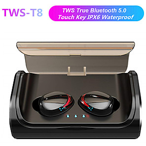cheap Wired Earbuds-LITBest T8 TWS True Wireless Earbuds Wireless Sport Fitness Bluetooth 5.0 Stereo Dual Drivers with Microphone