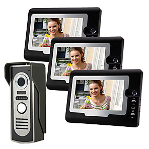 cheap Security Sensors-Wired 7 Inch Hands-free 800*480 Pixel One To One Video Doorphone