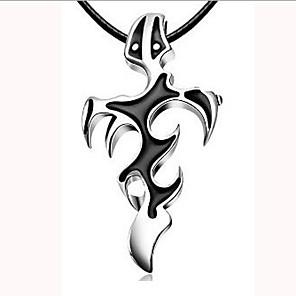 cheap Pendant Necklaces-Men's Pendant Necklace Charm Necklace Classic Cross Unique Design Vintage Chrome Black 45 cm Necklace Jewelry 1pc For Street