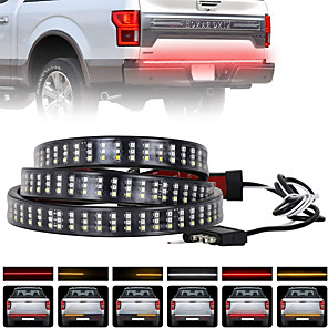 cheap Ring light-ZDM 60 inch 432 LEDs Car Lights Triple Row Tailgate LED Strip Lights Tiktok Lights Brake Running Sequential Amber Turn Signal DC12V