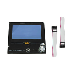 cheap 3D Printer Parts & Accessories-3D Printer MKS 12864A V1.0 LCD Screen Control Panel Display Screen  intelligent display for DIY 3D Printer Accessorie