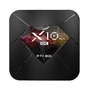 cheap TV Boxes-X10 PLUS Android 9.0 Smart TV Box Allwinner H6 UHD 4K Media Player 6K Image Decoding 4GB / 32GB 2.4G WiFi 100M LAN USB3.0 H.265 VP9 LCD Display