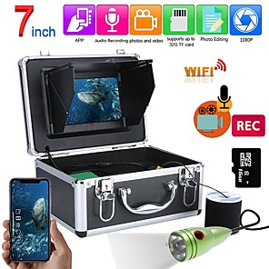 cheap CCTV Cameras-F011M-20M-W Fish Finder Underwater Fishing 1080P Camera Kit 7 Inch WIFI Wireless 16GB Video Recording DVR  20m 6W white LEDs