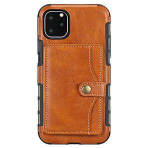 cheap iPhone Cases-Case For Apple iPhone 11 / iPhone 11 Pro / iPhone 11 Pro Max Wallet / Card Holder / Shockproof Back Cover Solid Colored PU Leather / TPU