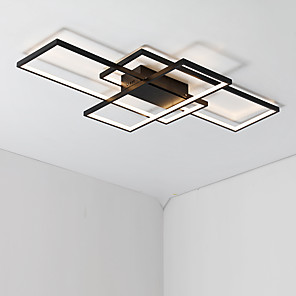 cheap Dimmable Ceiling Lights-JSGYlights 3-Light 60 cm Flush Mount Lights Aluminum Silica gel Geometrical Painted Finishes LED Modern 110-120V 220-240V