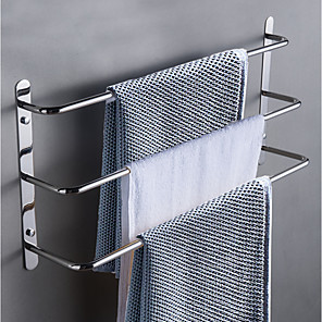 cheap Towel Bars-Bathroom Accessory Set / Towel Bar / Robe Hook Multilayer / New Design / Cool Contemporary / Antique Stainless Steel 1pc - Bathroom / Hotel bath 3-towel bar Wall Mounted