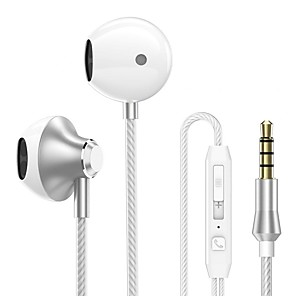 cheap TWS True Wireless Headphones-LITBest PTM D31 Wired In-ear Earphone Wired Stereo with Microphone with Volume Control InLine Control for Mobile Phone