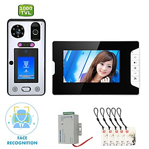 cheap Video Door Phone Systems-MOUNTAINONE SY813WGLB11 WIFI / Wireless Built in out Speaker 7 inch Hands-free 1080 Pixel One to One video doorphone