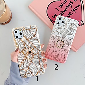 cheap iPhone Cases-Case For Apple iPhone 11 / iPhone 11 Pro / iPhone 11 Pro Max Ring Holder / Pattern Back Cover Flower TPU