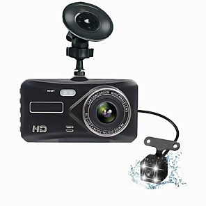 cheap Car DVR-T672 Dual Lens Mini Dash Cam FHD 1080P 4  IPS Screen Dvr Rear views Two Camera Dvrs Dashboard Auto video Record Night Version