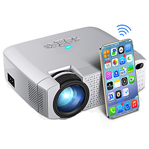cheap Action Cameras-D40W LED Mini Projector Video Beamer for Home Cinema 1600 Lumens Support HD Wireless Sync Display For iPhone/Android Phone D40W