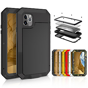 cheap iPhone Cases-Case For Apple iPhone 11 / iPhone 11 Pro / iPhone 11 Pro Max Shockproof Full Body Cases Tile Metal
