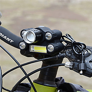 cheap Bike Lights & Reflectors-LED Bike Light Front Bike Light Safety Light Bicycle Cycling Portable Adjustable Durable Lightweight Lithium Battery 500 lm Battery White Camping / Hiking / Caving Cycling / Bike / Aluminum Alloy