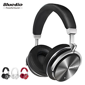 cheap On-ear & Over-ear Headphones-Bluedio T4 Active Noise Cancelling Wireless Bluetooth Headphones Wired Headset with Microphone for Phone Music