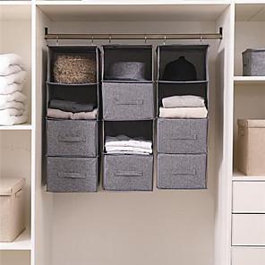 cheap Storage & Organization-Simple Houseware 4 Shelves Hanging Closet Organizer