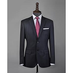 cheap Custom Suits-Charcoal gray wool custom suit