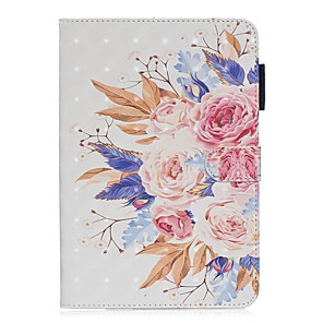 cheap iPad case-Case For Apple iPad Mini 3/2/1 / iPad Mini 4 / iPad Mini 5 with Stand / Flip / Pattern Full Body Cases Flower PU Leather