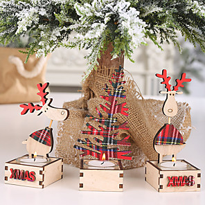 cheap Wedding Decorations-Costume Accessories Wooden 1 Piece Christmas
