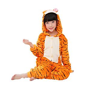 povoljno Kigurumi plišane pidžame-Dječji Kigurumi plišana pidžama Tigar Onesie pidžama Fabrik Flannel Cosplay Za Dečki i cure Zivotinja Odjeća Za Apavanje Crtani film Festival / Praznik Kostimi