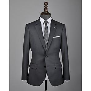 cheap Custom Suits-Dark gray wool custom suit