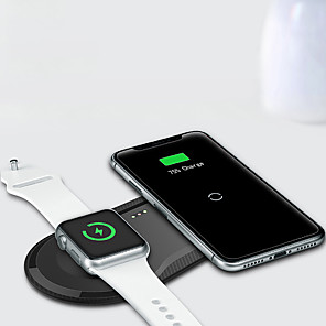 cheap Wireless Chargers-Wireless Charger USB Charger USB Qi 1 USB Port 3 A DC 5V for Apple Watch Series 4 / Apple Watch Series 4/3/2/1 / Apple Watch Series 3 Apple