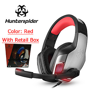 cheap Gaming Headsets-LITBest V4 Gaming Headset Wired Stereo Dual Drivers with Microphone with Volume Control HIFI for Gaming
