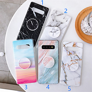 cheap Samsung Case-Case For Samsung Galaxy S9 / S9 Plus / S8 Plus with Stand / Pattern Back Cover Marble TPU