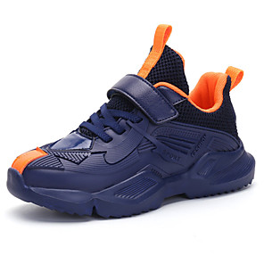 cheap Kids' Boots-Boys' Comfort PU Trainers / Athletic Shoes Big Kids(7years +) Red / Blue / Dark Blue Fall