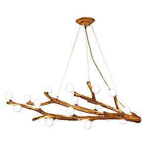 cheap Globe Design-12 Bulbs ZHISHU 73 cm LED Chandelier Wood / Bamboo Acrylic Candle-style / Cluster / Sputnik Nature Inspired / Nordic Style 110-120V / 220-240V