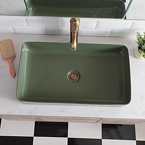 cheap Kitchen Faucets-Bathroom Sink Contemporary - Glass Rectangular Vessel Sink