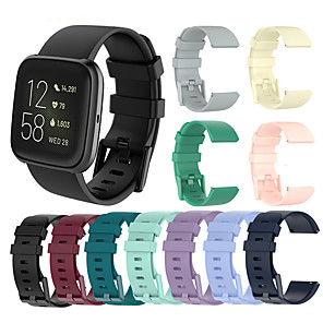 cheap Smartwatch Bands-Watch Band For Fitbit Versa / Fitbit Versa Lite / Fitbit Versa 2 Fitbit Sport Band / Classic Buckle / Modern Buckle Silicone Wrist Strap For Fitbit Versa 2 / Fitbit Versa Lite / Fitbit Versa