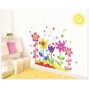 cheap Wall Stickers-AY708 romantic colorful sun flower home children's room kindergarten bedroom background decoration removable stickers