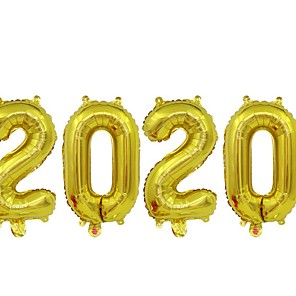 cheap Christmas Decorations-2020 Foil Number Balloons for 2020 New Year Eve Festival Party Supplies Graduation Decorations