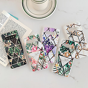 cheap Samsung Case-Case For Samsung Galaxy S9 / S9 Plus / S8 Plus/S10/S10 plus/Note9/Note9 plus/Note10/Note10 plus/Note10 pro Dustproof / Plating / IMD Back Cover Geometric Pattern / Flower TPU