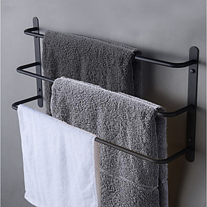 cheap Towel Bars-Bath Towel Bar Racks / Bathroom Shelf Multilayer /  Design / Cool Contemporary / Antique Stainless Steel 1pc - Bathroom / Hotel bath 3-towel bar Wall Mounted