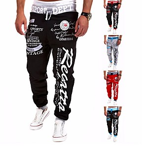 cheap Massive Clearance Sale-Men's Joggers Jogger Pants Running Pants Streetwear Athletic Pants / Trousers Sweatpants Athleisure Wear Harem Drawstring Cotton Fitness Exercise & Fitness Running Jogging Breathable Quick Dry Sport